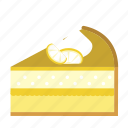 cake, cake piece, cake slice, dessert, food, lemon, sweets icon
