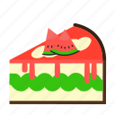 cake, cake slice, dessert, sweets, watermellon icon