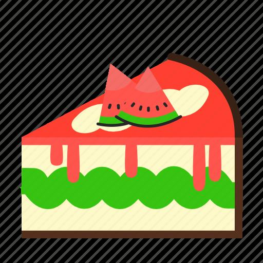 cake, cake slice, dessert, sweets, watermellon icon