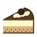 bakery, cake, cake piece, chocolate, dessert, food, sweets icon