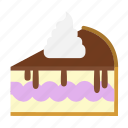 bakery, cake slice, cheesecake, chocolate, dessert, food, sweets icon
