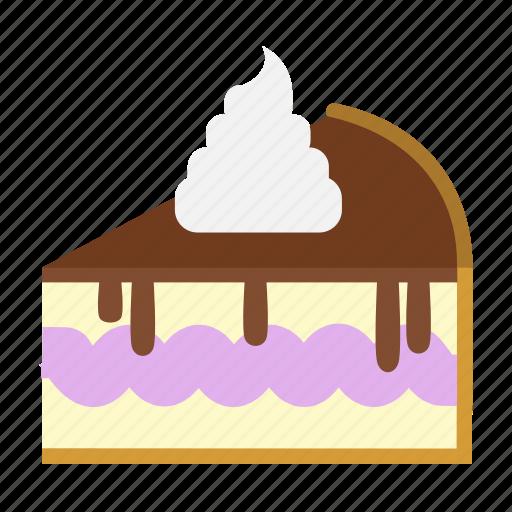 bakery, cake slice, cheesecake, chocolate, dessert, food, sweets icon