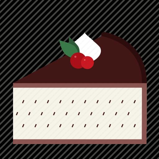 cake, cake piece, cake slice, dessert, food, straciatella, sweets icon