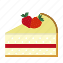 cake, cake piece, cake slice, dessert, strawberry, sweets icon