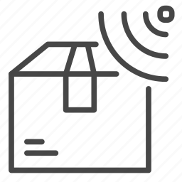 box, gps, package, service, tracking icon