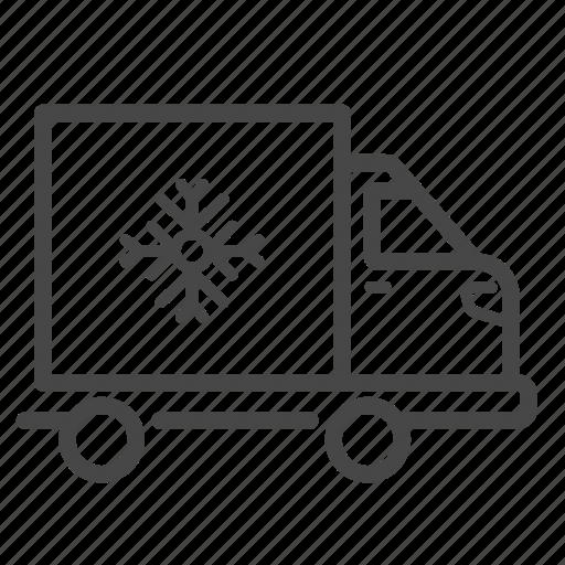 cold, cold chain, delivery, freeze, logistics, service, truck icon