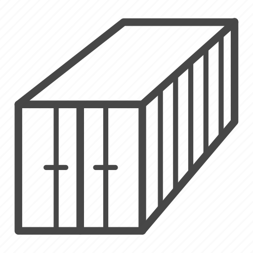 container, delivery, logistics, service icon