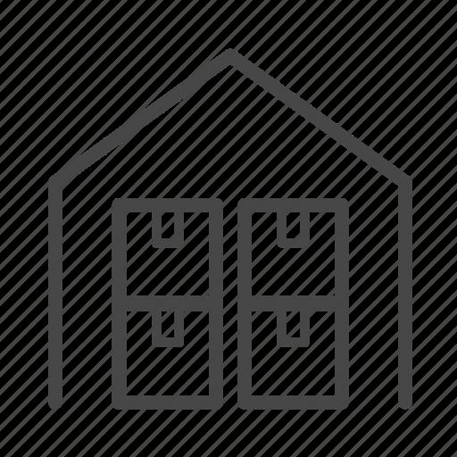 logistics, service, stock, storehouse, warehouse icon