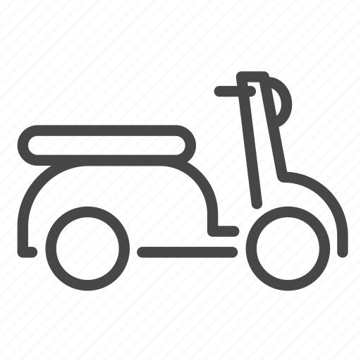 delivery, logistics, motorcycle, scooter, shipping icon