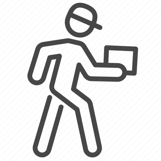 delivery, logistics, man, messenger, post, shipping icon
