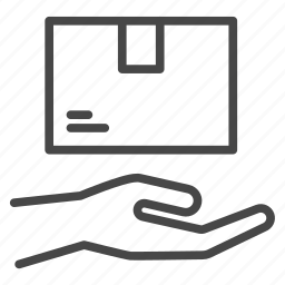 delivery, hand to hand, package, parcel, shipping icon