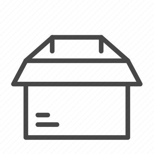 box, empty, package, parcel, shipping icon