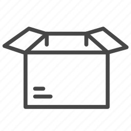 box, delivery, package, parcel, shipping, unpack icon