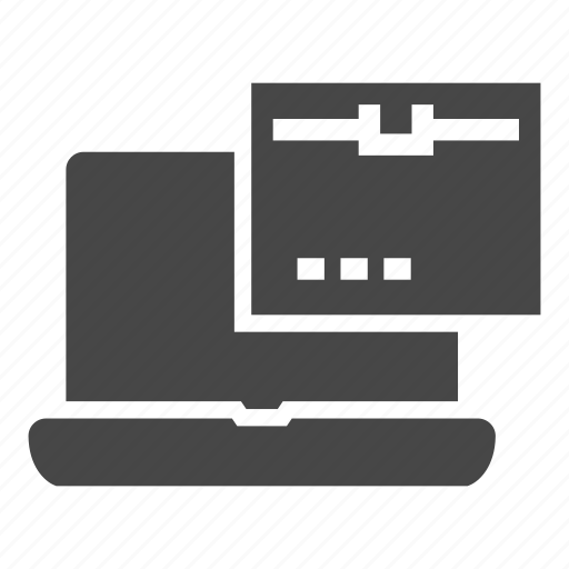 delivery, notebook icon