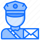 courier, delivery, letter, parcel, postman, warehouse icon