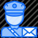 courier, delivery, letter, parcel, postman, warehouse