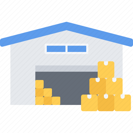 box, building, courier, delivery, parcel, warehouse icon