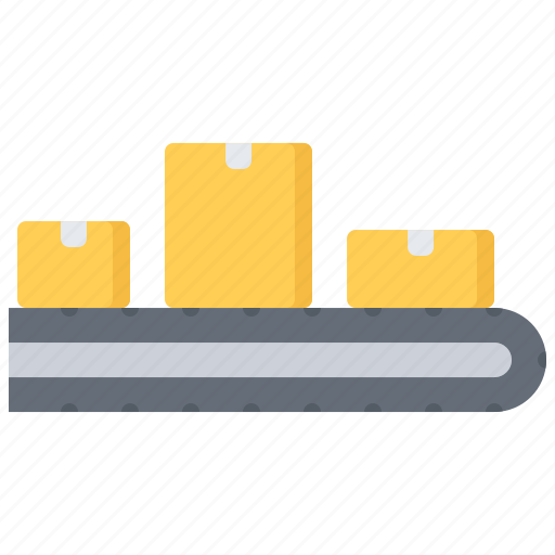 box, conveyor, courier, delivery, parcel, warehouse icon