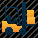 delivery, forklift, logistic, package, transportation