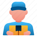 avatar, delivery, delivery man, logistic, man, shipping