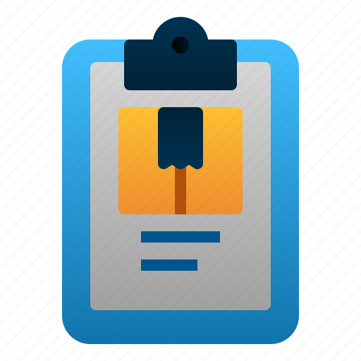 Clipboard, delivery, logistic, package, report icon - Download on Iconfinder