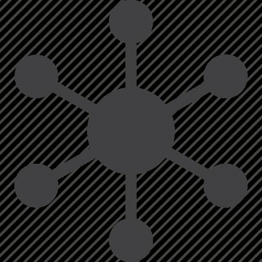 Central, connection, hub, server, spoke icon - Download on Iconfinder
