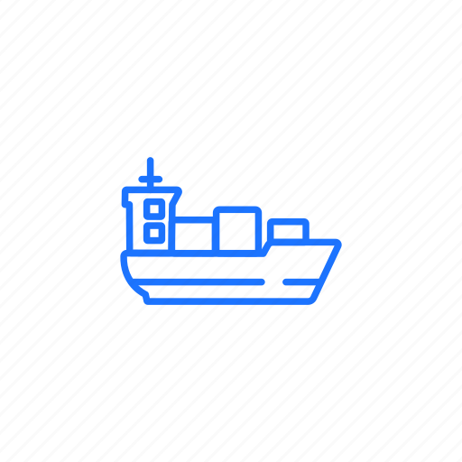 container, logistics, ship, shipment, transportation icon