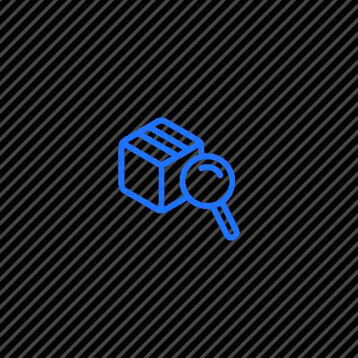 custom, parcel, scanning, screening icon