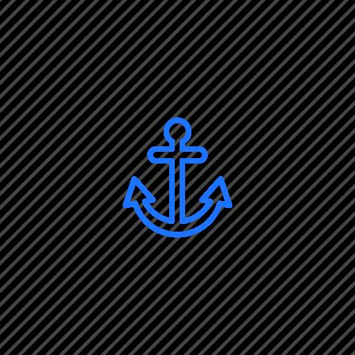 anchor, freight, sea, ship icon