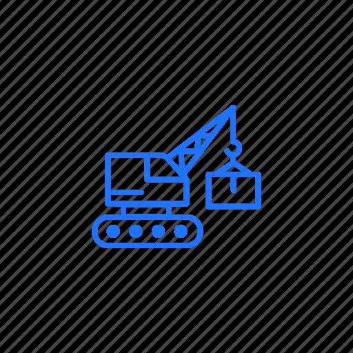 crane, harbour, logistics, shipment, warehouse icon