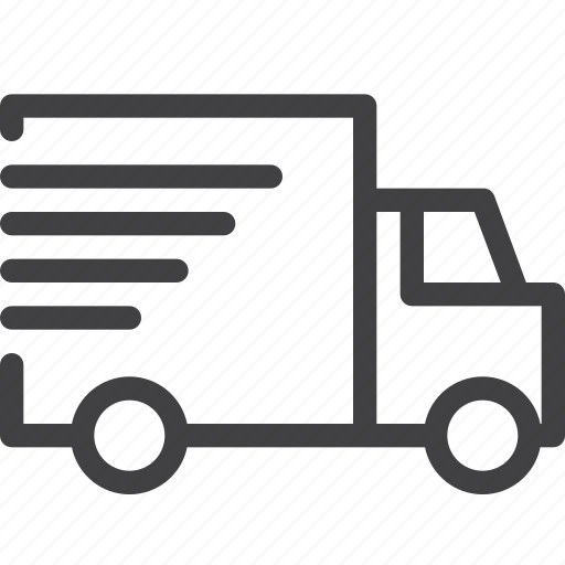 fast, lorry, shipping, truck icon