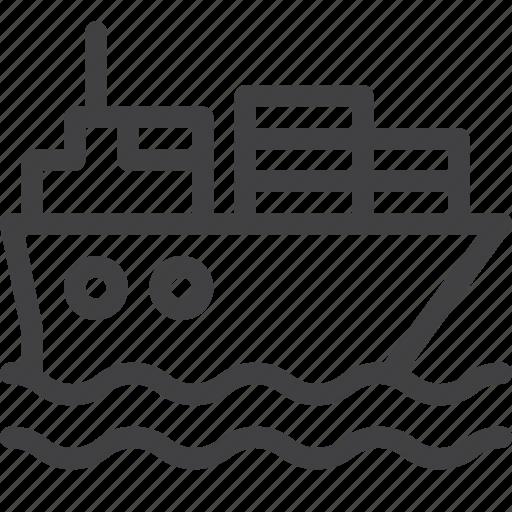 cargo, container, ship, transportation icon