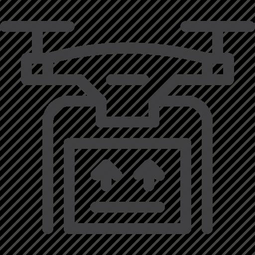 air, delivery, drone, service icon