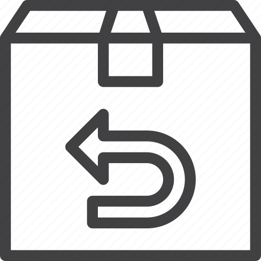 box, parcel, purchase, return icon