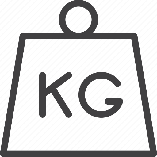 kettlebell, kg, mass, weight icon