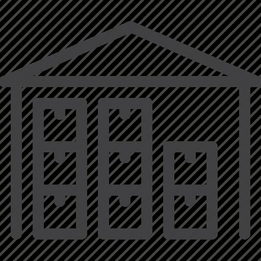 logistics, storage, store, warehouse icon