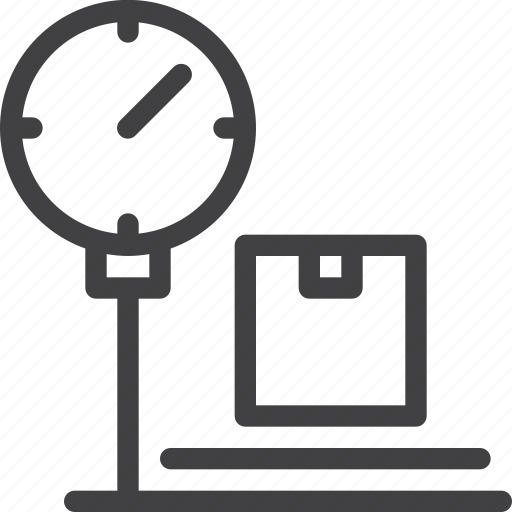 parcel, platform, scale, weighting icon