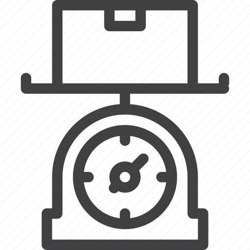 package, parcel, scale, weight, weighting icon