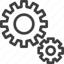 cogwheel, gear, integration, settings icon