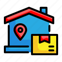 home, location, gps, delivery, box, pin
