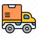 delivery, courier, service, shipping, delivery truck, cargo, car