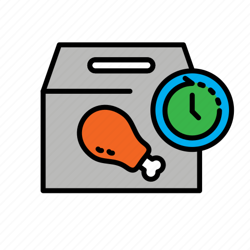 24hr, chicken, delivery, fast food, food, packing icon - Download on Iconfinder