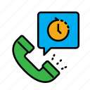 24hr, call, call center, delivery, food, service icon