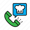 call, call center, delivery, food, order, service icon