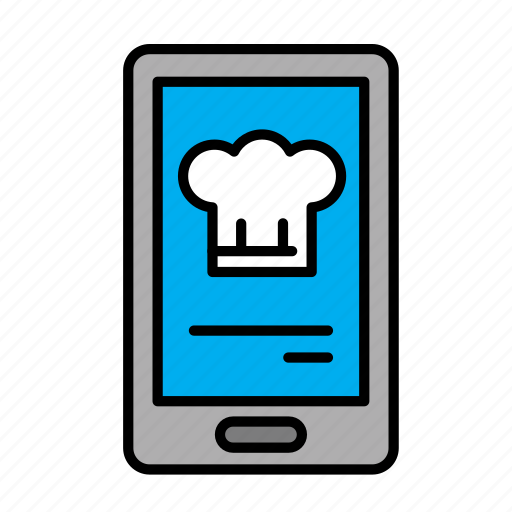 delivery, food, menu, mobile, smart order icon