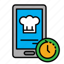 24hr, delivery, food, mobile, order, smart order icon