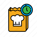 24hr, cook, cooking, delivery, fast food, food, packing icon