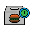 24hr, delivery, fast food, food, hamburger, packing