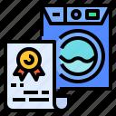 certificate, document, guarantee, laundry, washing