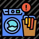 basket, laundry, machine, notification, washing
